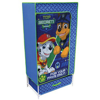 BOYS CUTE Kids Canvas Fabric Wardrobe Storage Solution -- Paw Patrol Kids Canvas
