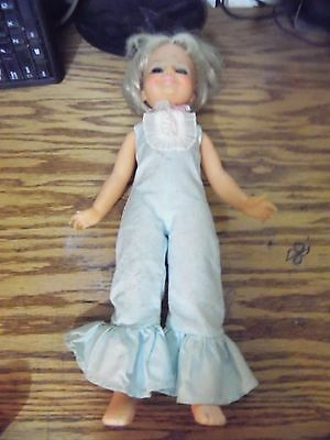 F3m Blonde Pull Back Hair RARE Vintage Ideal Toy Doll Walker 1969