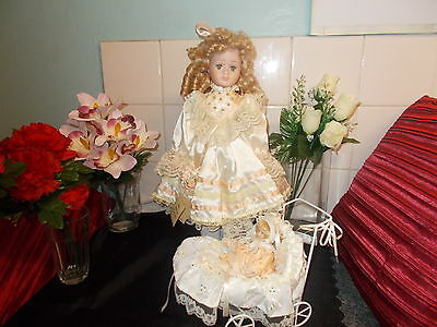 """The Helena Collection *aggie 16"""" * &  Baby *ainsley 6"""" *porcelain Limited Dolls"""