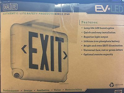Exit Sign with Emergency Lights, Hubbell Lighting - Dual-Lite, EVCURW