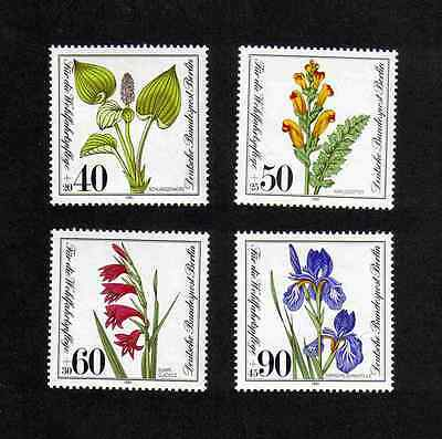 West Germany (Berlin) 1981 Flowers complete set of 4 values (SG B622-B625) MNH