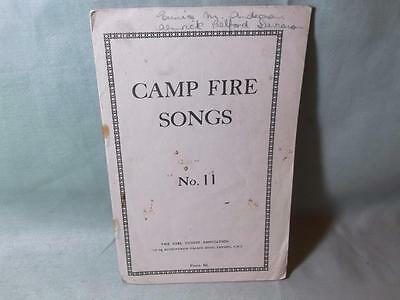 Camp Fire Songs  No.11  Small Vintage Pamphlet for Girl Guides
