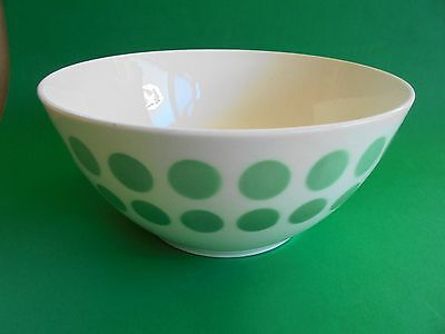 LARGE GREEN POLKA DOT MIXING BOWL c1950's LIKE NEW GDR