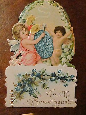 Vintage Valentine DayCard (Pop Up Embossed Cut Out Fold ) Lilly's of the Valley