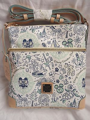 Disney Dooney & And Bourke DVC Vacation Club 25th Anniversary Letter Carrier Bag