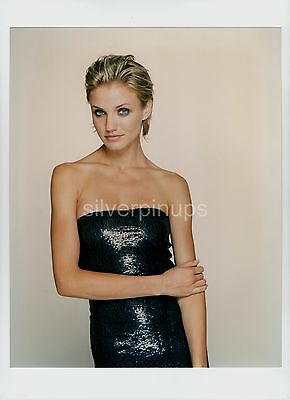 Orig 1990's CAMERON DIAZ Sequinned Beauty.. Jennifer George FASHION Portrait
