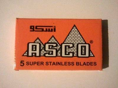 100 x Asco Orange Double Edge Safety Razor Blades