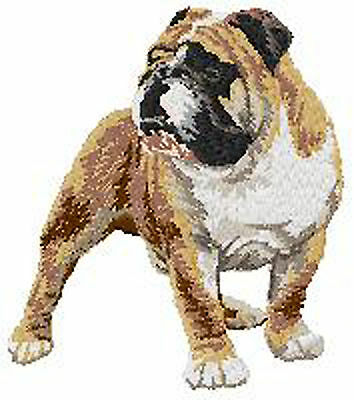 American Bulldog standing Portrait  embroidery Patch