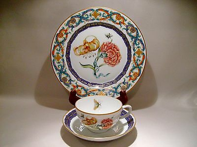 Mottahedeh Merian Daylily Trio Dessert/Salad Plate Cup Saucer