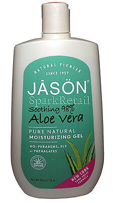Jason Soothing 98% ALOE VERA Pure Natural Organic Moisturizing Gel 454g