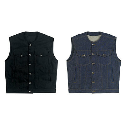 Biltwell Prime Cut Denim Motorcycle Riding Vest - Choose Size & Color