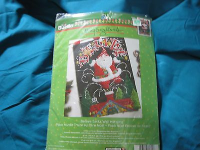 Bucilla Felt Applique Home Decor Wall Hanging Kit ~ BELIEVE SANTA #86682 NEW