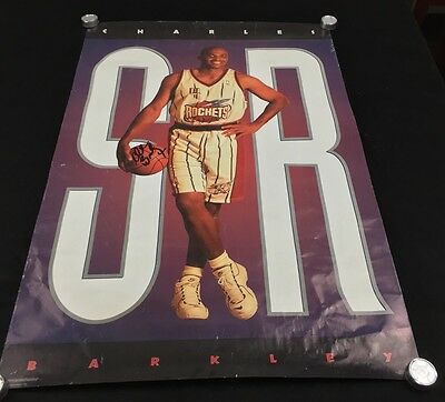 Charles Barkley Poster Signed Autographed NBA Basketball Stars Houston Rockets