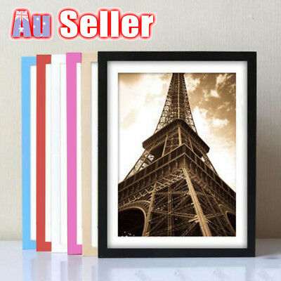 A4 Size Document Certificate Photo Picture Glass Frame Black White Coloured Sets