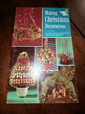 Vintage Making Christmas Decorations booklet by Gene Taylor