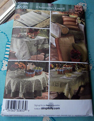 Oop Simplicity 3695 Christopher Lowell outdoor table chairs accessories NEW