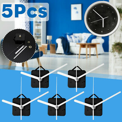 5Pcs White Hands Silent DIY Wall Quartz Clock Movement Mechanism Repair Tool Kit