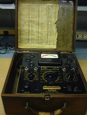 Vintage Datrad Tube Tester Radio Products Co. Audio Hi-Fi Amplifier USA Made
