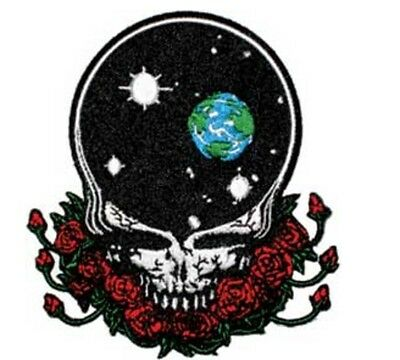 "Grateful Dead Space Your Face Iron On Patch 4"" x 3 1/2"" Free Ship Licensed P1227"
