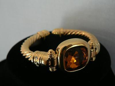 Joan Rivers Amber Crystal Interchangeable Stone Goldtone Bracelet