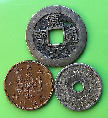 Japan coins, set of 3 coins