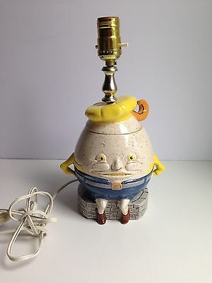 Vintage Humpty Dumpty Ceramic Cookie Jar Table Lamp RARE Upcycled