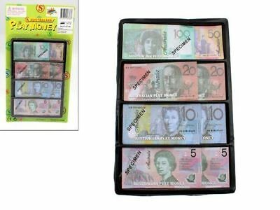 72 x Play Money Australian notes pretend play toy Bulk Wholesale lot