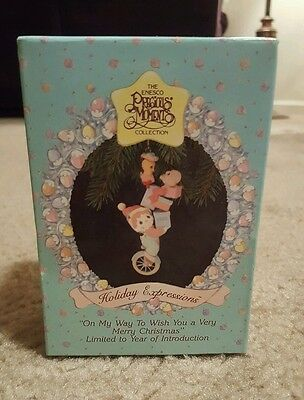 """Precious Moments 1992 """"On My Way To Wish You A Very Merry Christmas"""" - ENESCO"""