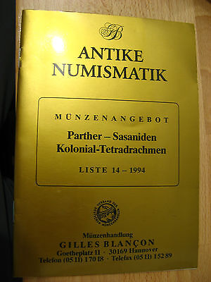 Book / Catalogue : Antike Numismatik Liste 14 1994 Parther Sasaniden