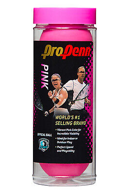 HEAD Pro Penn PINK Racquetballs 3 pack, shipping label on can
