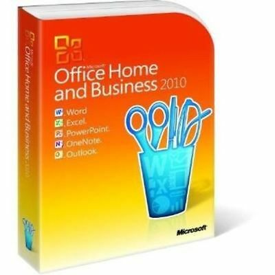 Microsoft Office Home and Business 2010 Full Retail edition with Media