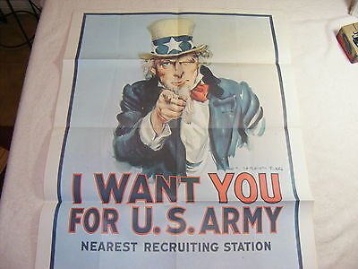 1975 Uncle Sam Poster I Want You for U.S. Army