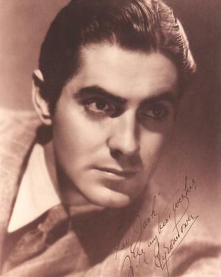 TYRONE POWER HOLLYWOOD photo with PRINTED AUTOGRAPH(bv14)