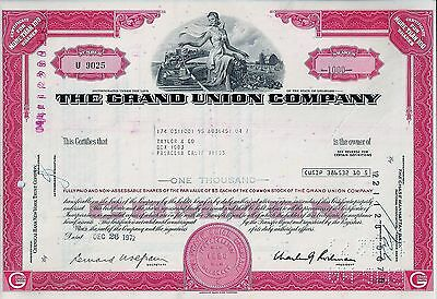 The Grand Union Company, Delaware, 1972  (1.000 Shares)