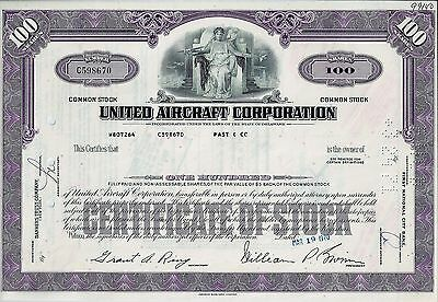 United Aircraft Corporation, Delaware, 1970 (100 Shares)