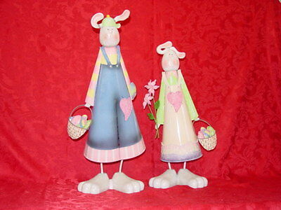 Easter Bunny Pair Figurine NIB Vintage Home Interiors & Gifts