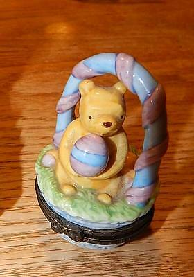 Disney Classic Winnie the Pooh Easter Basket Trinket Box Midwest Cannon Falls