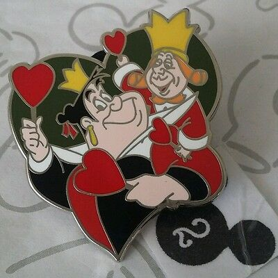 KING & QUEEN of Hearts Couples Mystery Alice in Wonderland Disney Pin Buy 2  Save