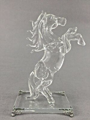 22cm Crystal Horse Figurine Gift Home Decoration Swarovski Look