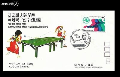 Sports,Table Tennis,INTL Table Tennis Championships,Korea 1982 FDC, Cover