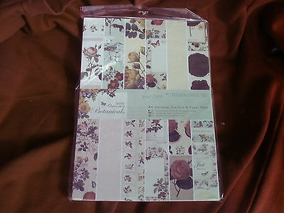 Docrafts papermania - botanicals - A4   ultimate die cut & paper pack - 48pk