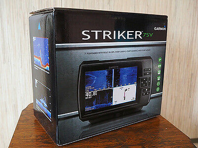 New Garmin STRIKER 7 SV Colour Sounder Sonar Fish Finder Trackplotter Transducer