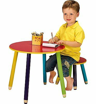 New Colourfull Pencil Kids Table and Stool for Kids Bedroom or Playroom..