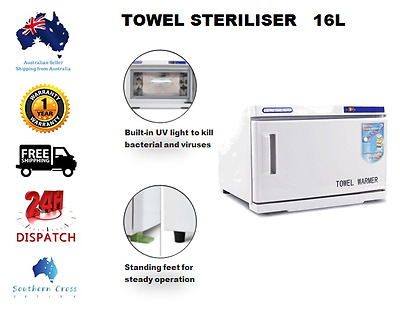 UV TOWEL STERILIZER Warmer Cabinet Hot Spa Special Beauty Hotel Salon 16L Light