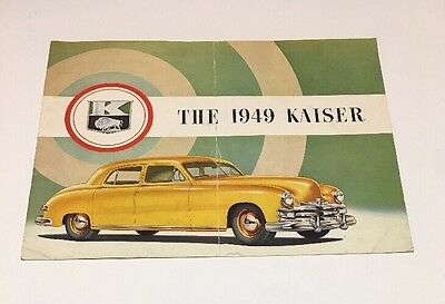 1949 Kaiser Full Color Brochure Very Nice Original