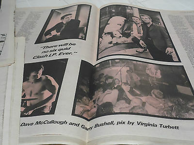 The Clash 1979 Three  Page Article With Pics...