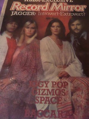 ABBA MAGAZINE COVER &COURT CASE ARTICLE FROM1977... 2x FULL PAGE`s of A3