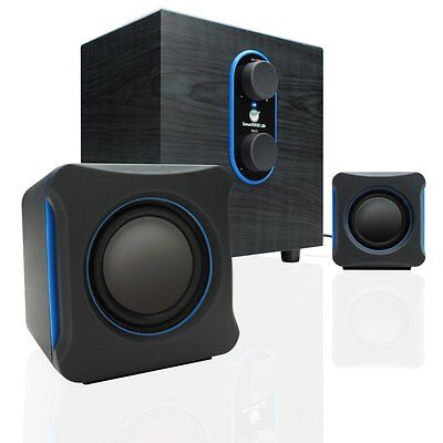 GOgroove SonaVERSE LBr 2.1 USB Speaker System with Bass Subwoofer