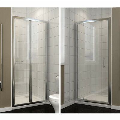 Bifold Pivot Shower Door Enclosure and Tray Glass Screen Walk In Cubicle