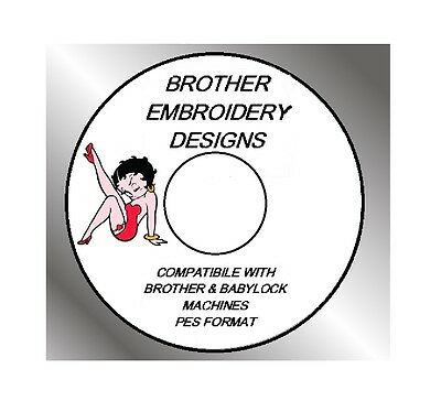 BETTY BOOP MINNIE MOUSE +1000's, of EMBROIDERY DESIGNS IN PES FORMAT J28EM